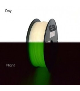 ABS 3 mm 750gr GLOW IN THE DARK GREEN